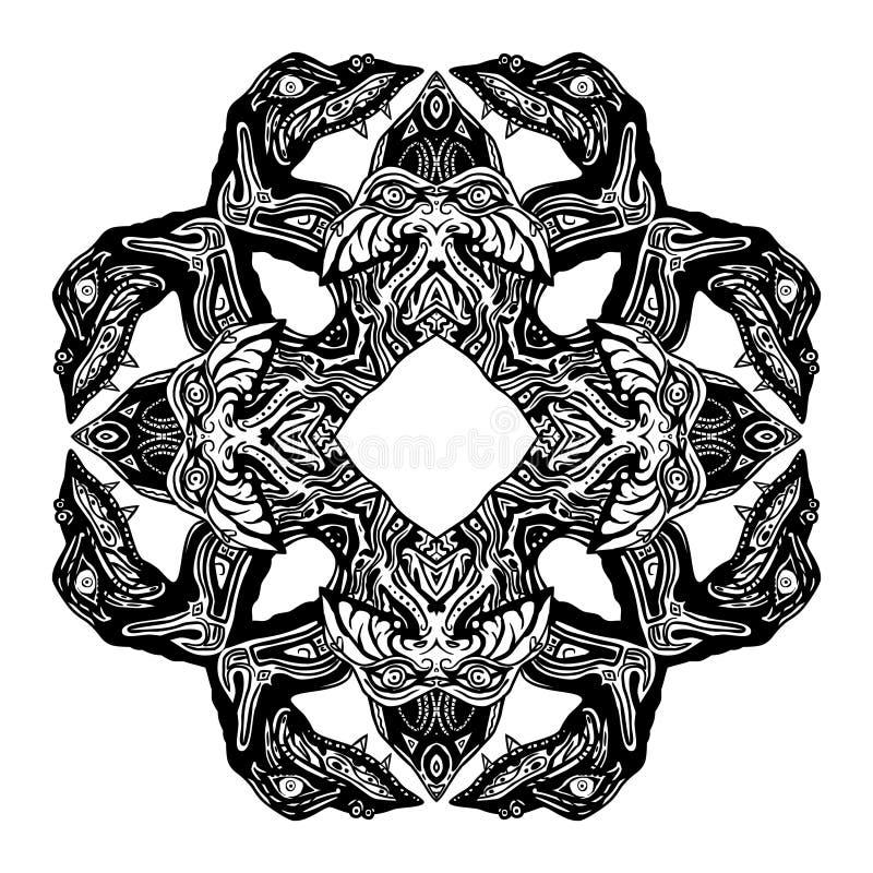 纵的沟纹蛇符号 皇族释放例证