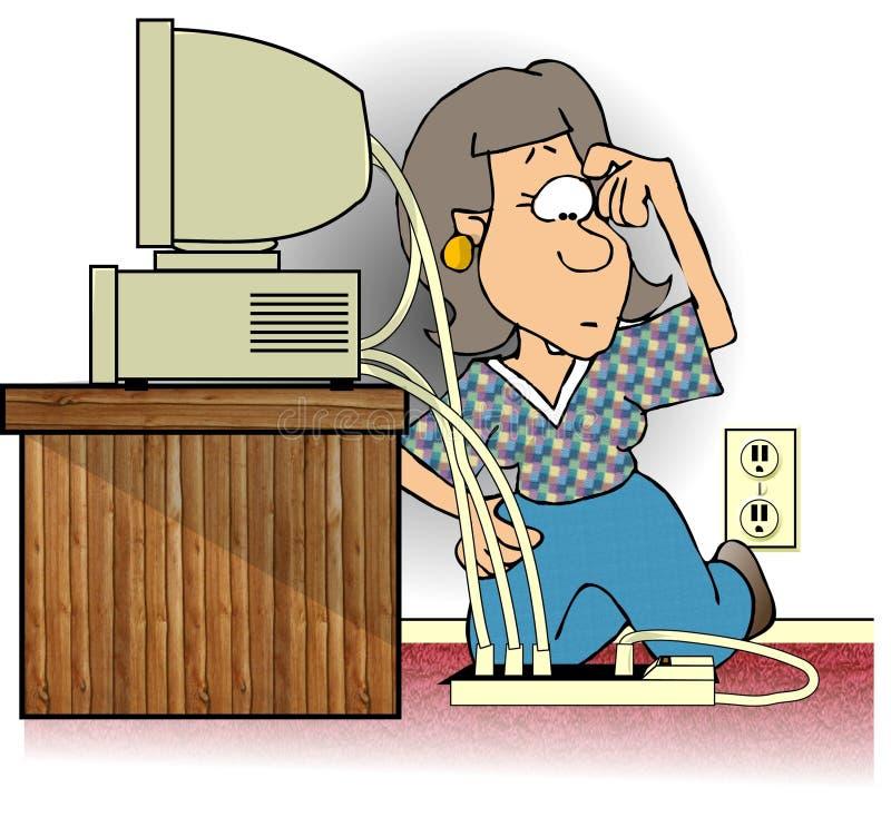 Download 纷争解决者 库存例证. 插画 包括有 女性, 监控程序, 滑稽, 电缆, 插件, 夫人, 主街上, 妇女, 可笑 - 65171
