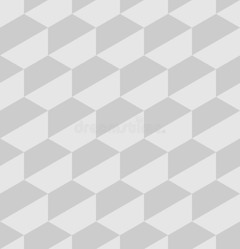 纸六角瓦片 无缝的抽象传染媒介样式背景 3D安心 向量例证