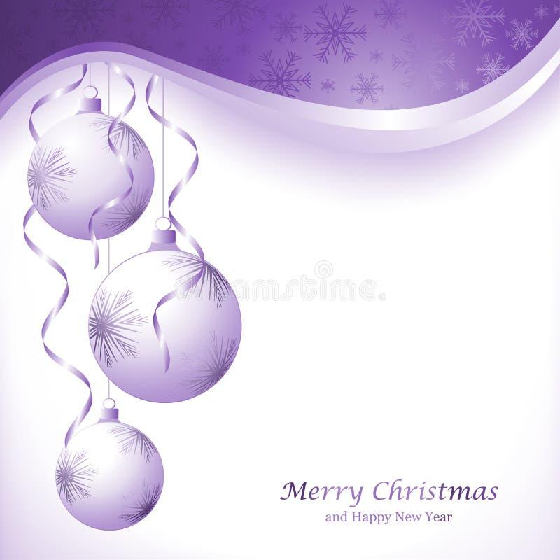 从纸切开的抽象圣诞节球 库存例证