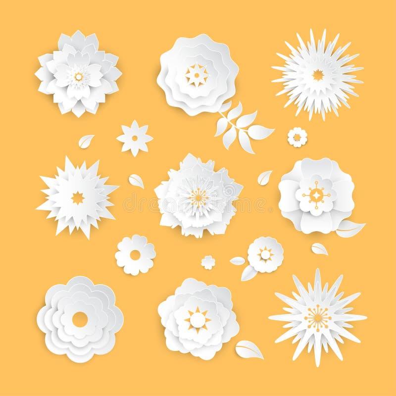 纸刻花-套现代传染媒介五颜六色的对象 库存例证