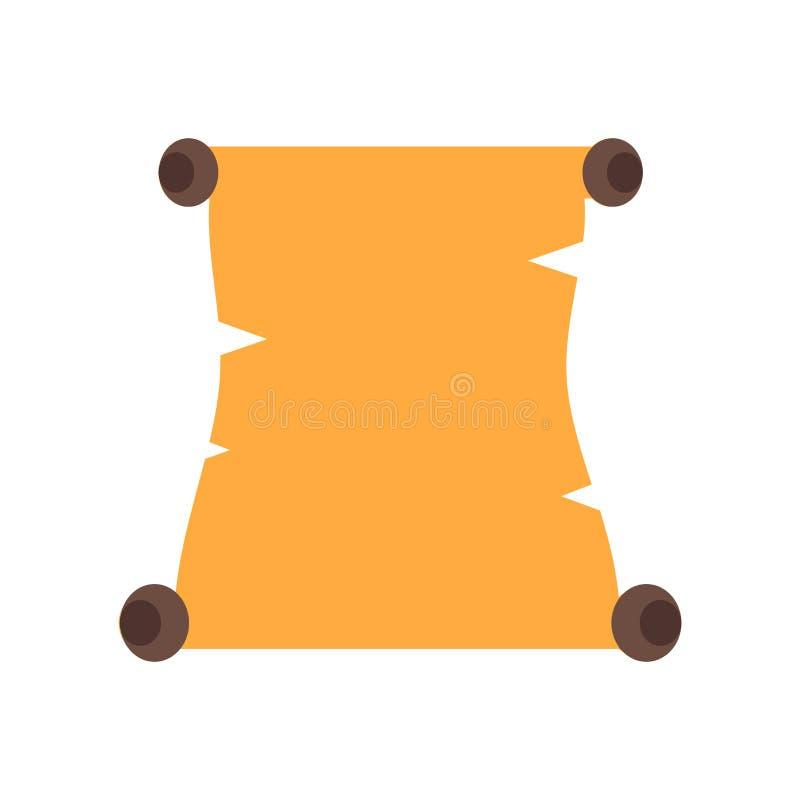 纸卷在白色背景隔绝的象传染媒介,纸卷标志,c 向量例证