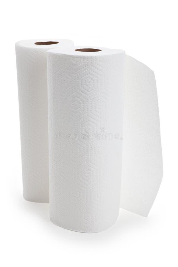 纸卷毛巾白色 库存图片