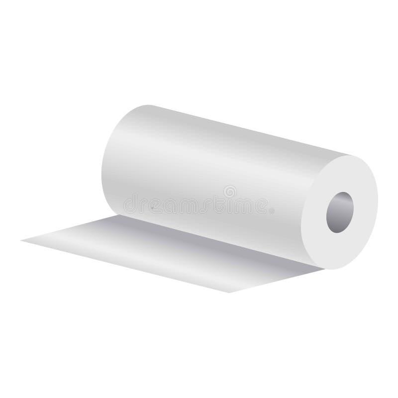 纸卷毛巾 向量例证