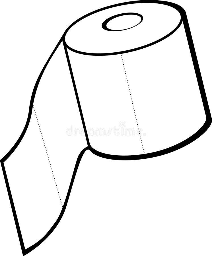 纸卷洗手间 向量例证