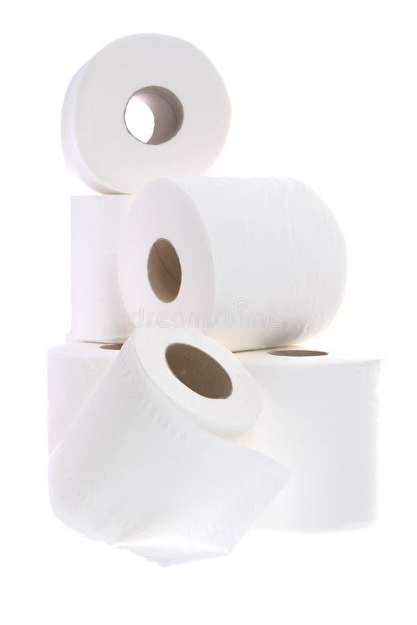 纸卷洗手间 免版税库存照片