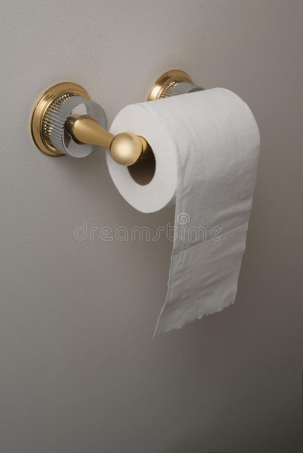 纸卷洗手间 免版税图库摄影