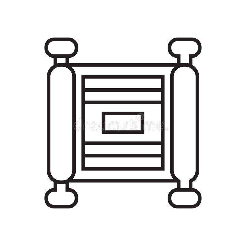 纸卷象在白色背景和标志隔绝的传染媒介标志 库存例证