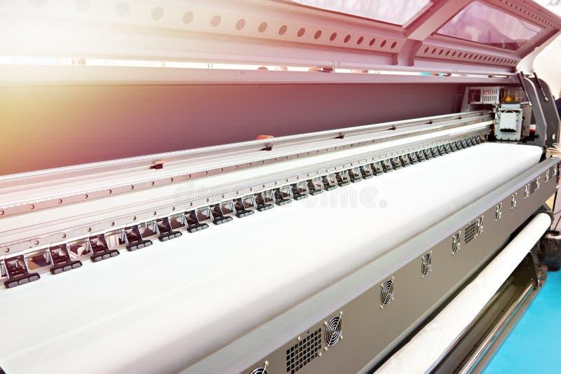 纸和纺织品的宽格式打印机 图库摄影