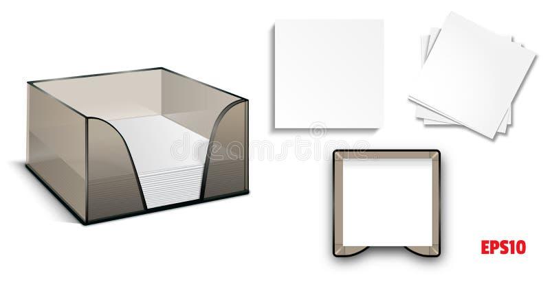 纸块传染媒介 向量例证