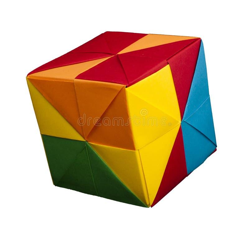 纸多维数据集折叠了origami样式。 库存图片