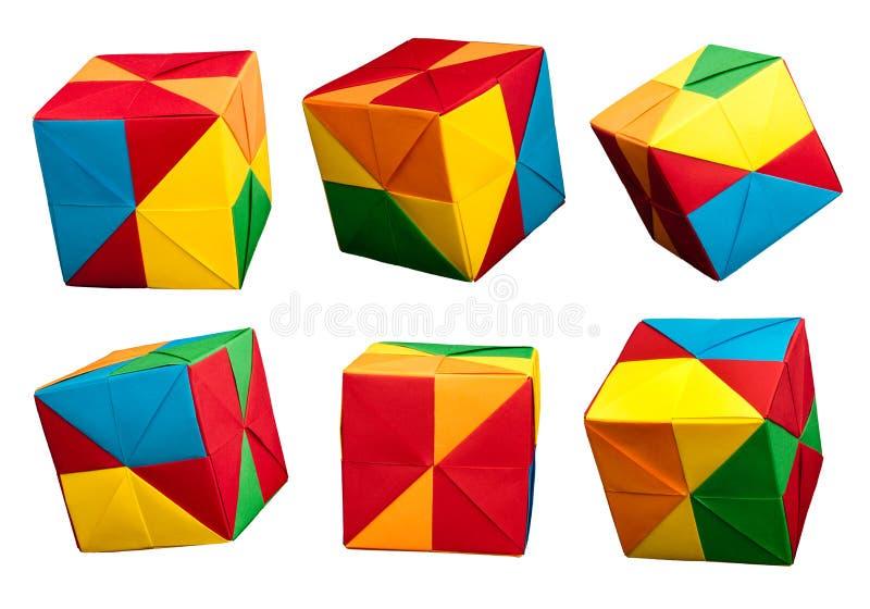 纸多维数据集折叠了origami样式。 免版税库存图片
