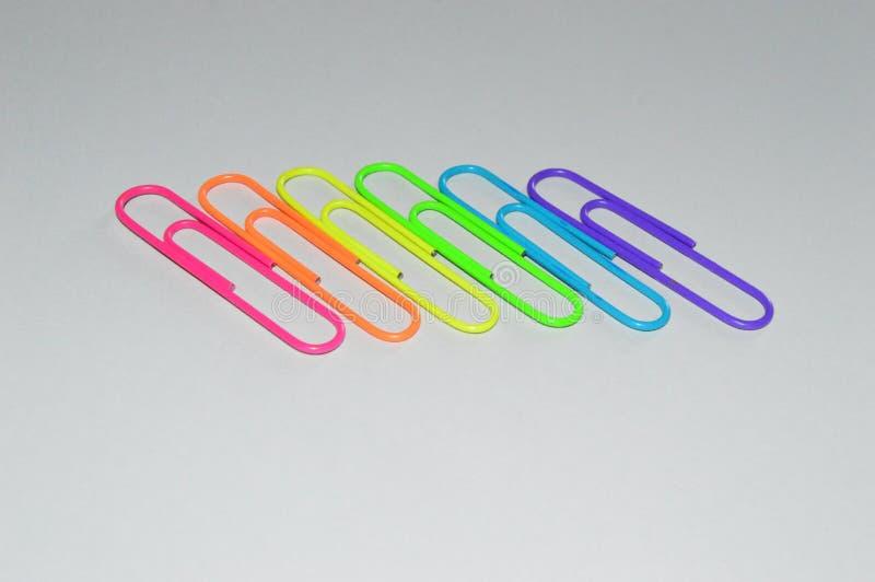 纸夹:LGBT彩虹旗子 图库摄影
