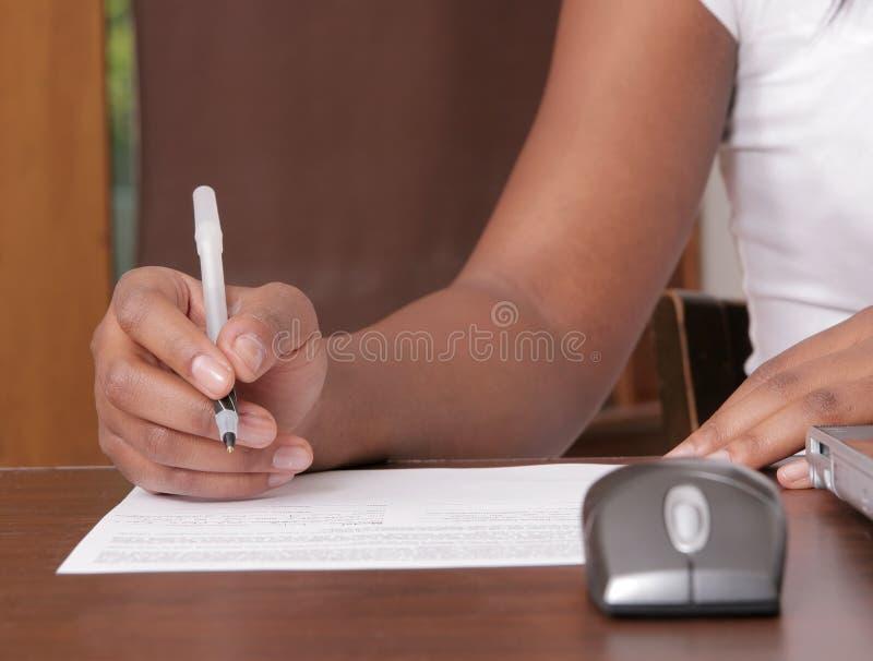 纸妇女文字 免版税图库摄影