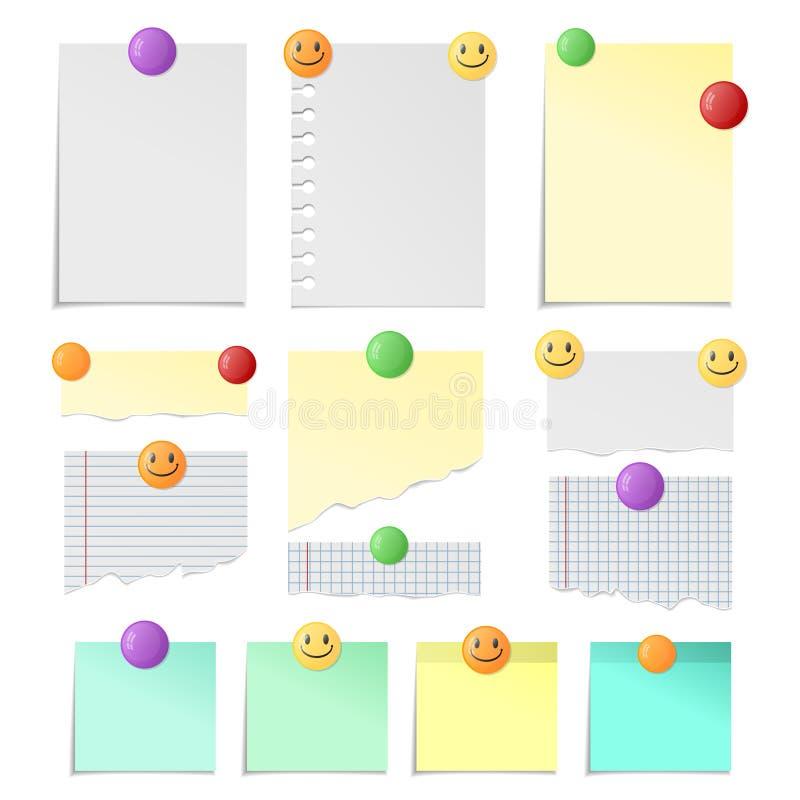纸射击附有与按钮为您的纪录和设计 库存例证