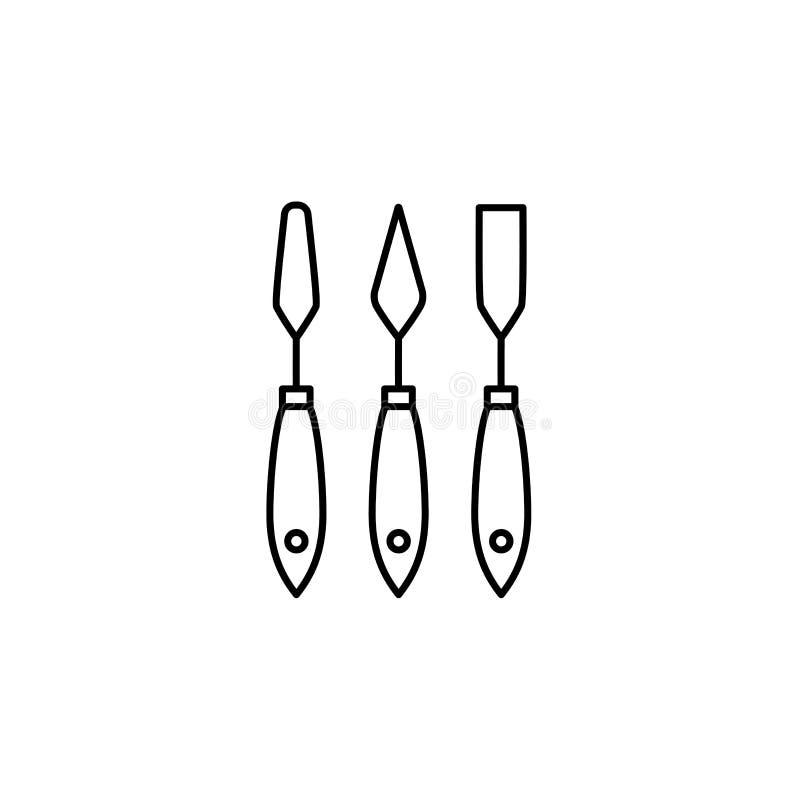 纸小铲集合的黑&白色传染媒介例证 线ico 库存例证
