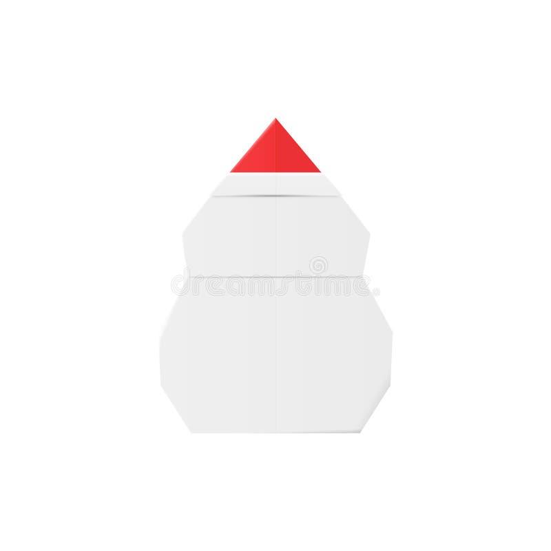 纸工艺雪人 Origami雪人手工制造圣诞节装饰玩具 皇族释放例证