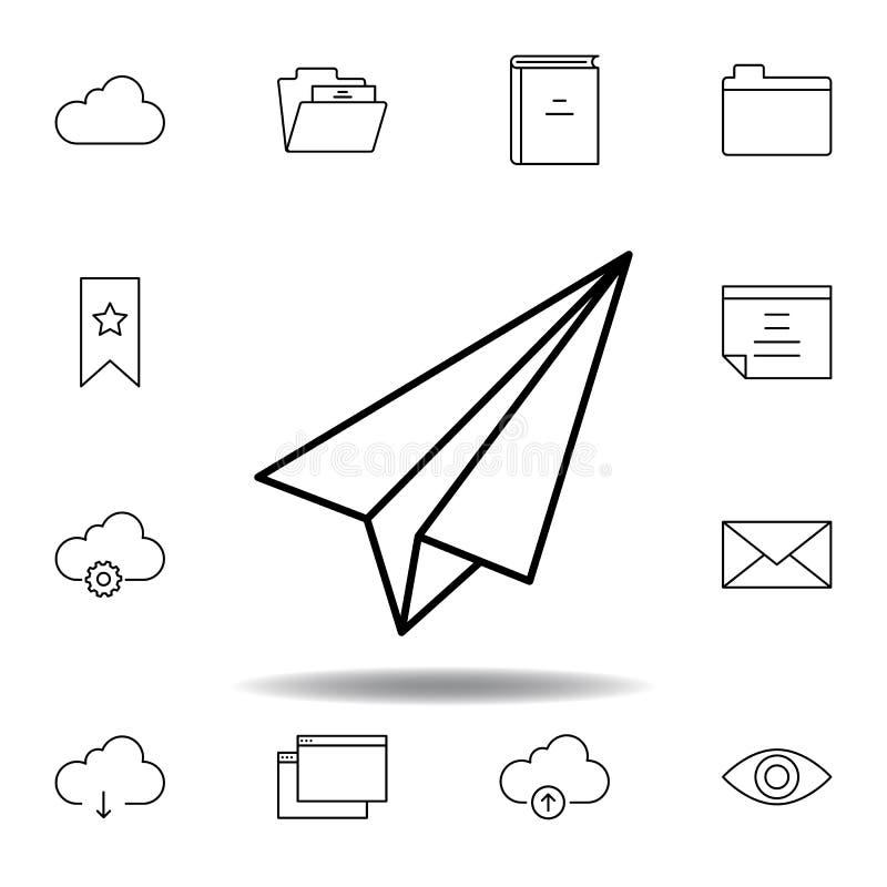 纸平面概述象 详细的套unigrid多媒体例证象 E 库存例证