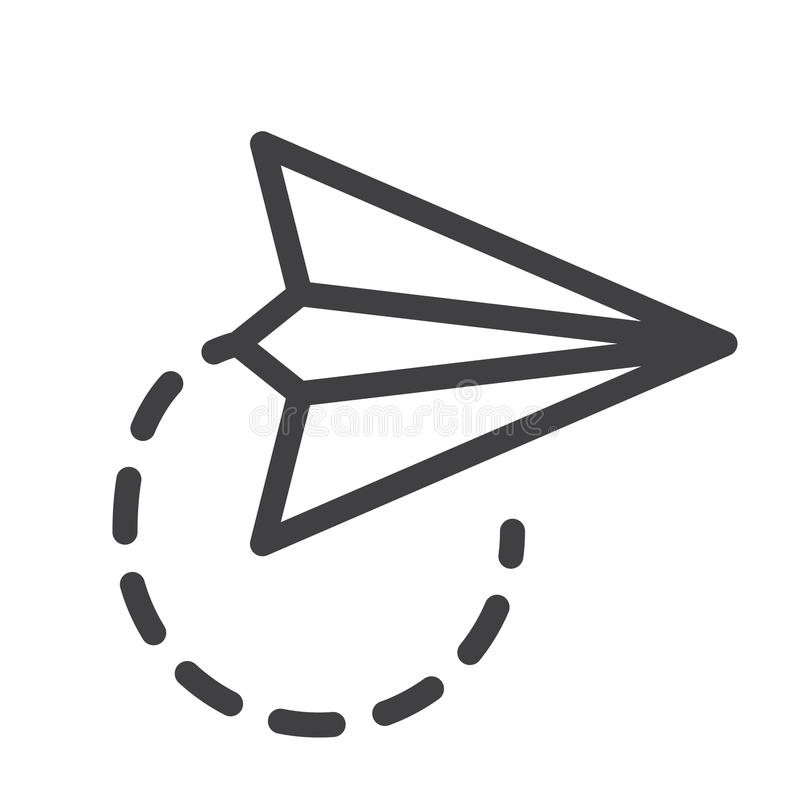 纸平面线象 库存例证