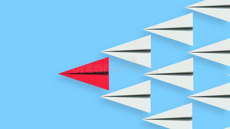 纸平面领导的领导例证 库存例证