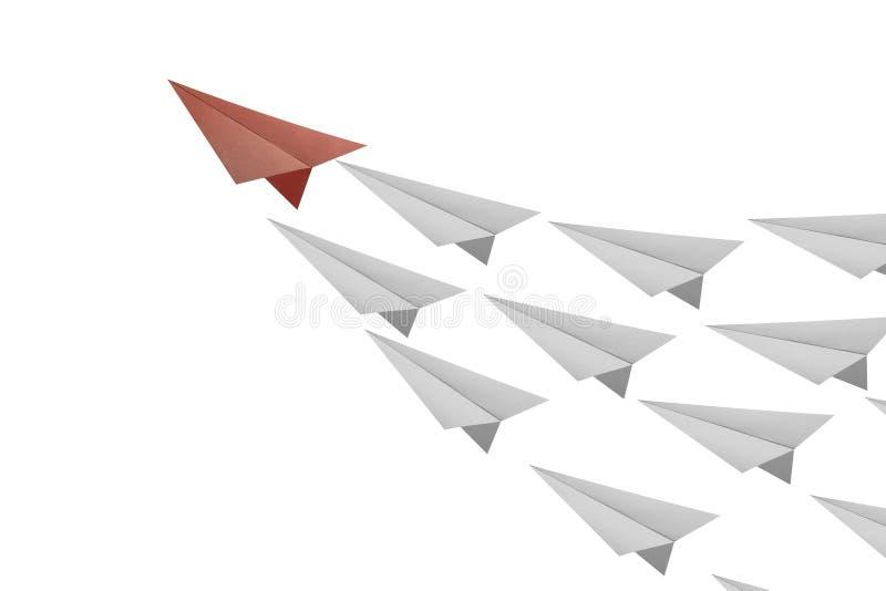纸平面领导 库存例证