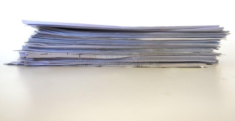 纸张堆 库存图片