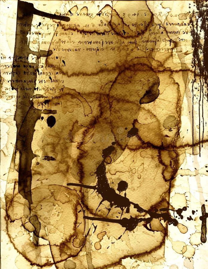 纸张弄脏了xiii 库存图片