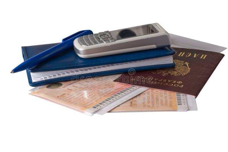 纸张护照旅行 库存图片