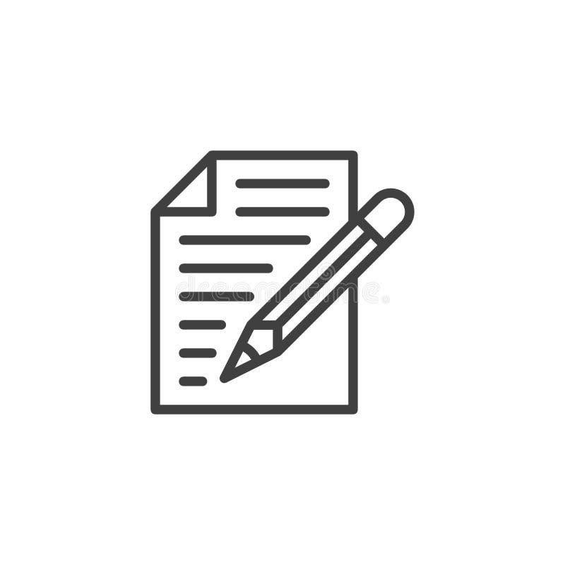 Paper document, Form line icon 库存例证