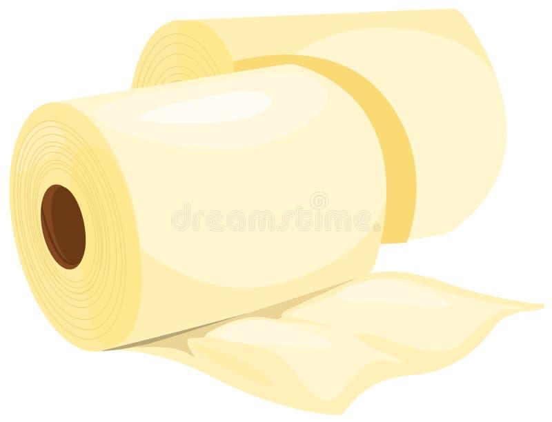 纸张滚组织 向量例证