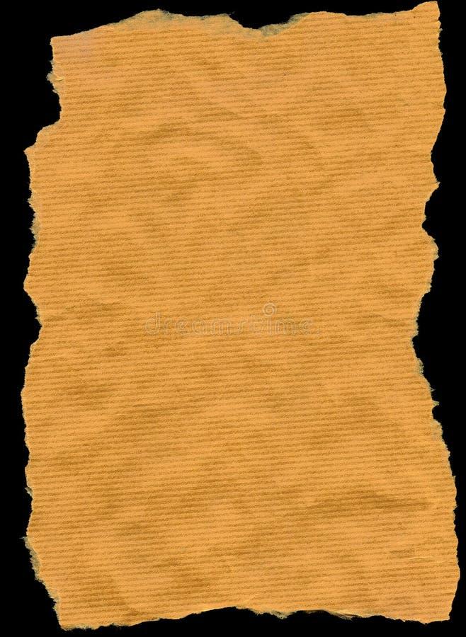 纸张被撕毁的包裹 免版税库存图片