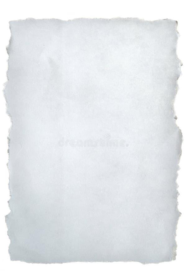 纸张被撕毁的白色 图库摄影