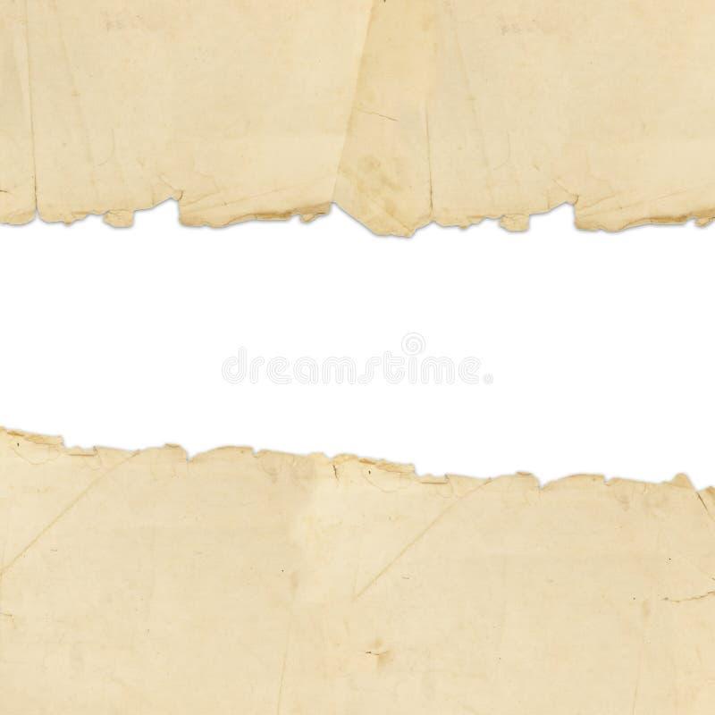 纸张被撕毁的葡萄酒 图库摄影