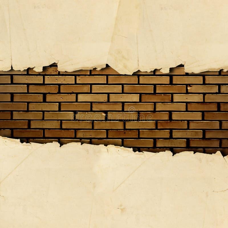 纸张被撕毁的葡萄酒 库存照片