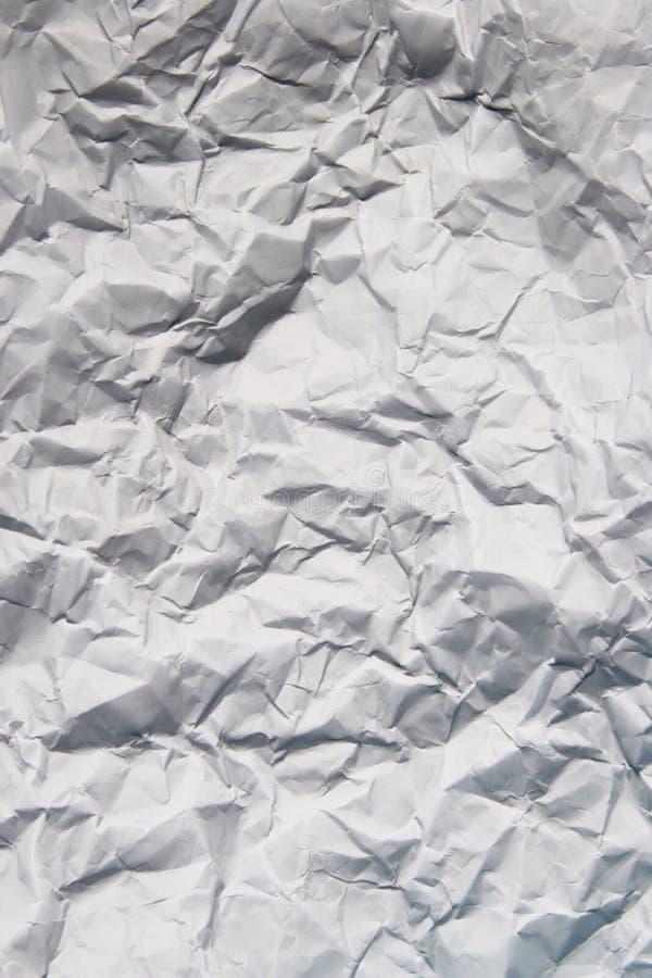 纸张被碾碎的纹理 免版税库存图片