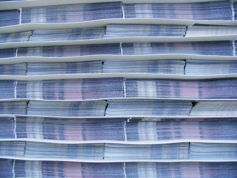 纸张钉书针 库存照片