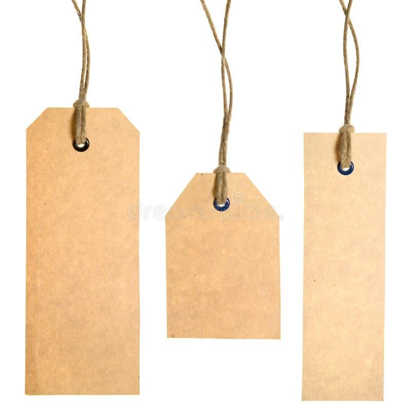 纸张集合标签 库存照片