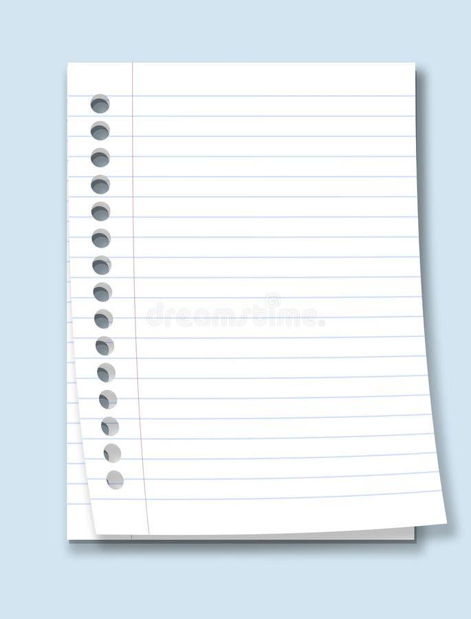 纸张 库存例证