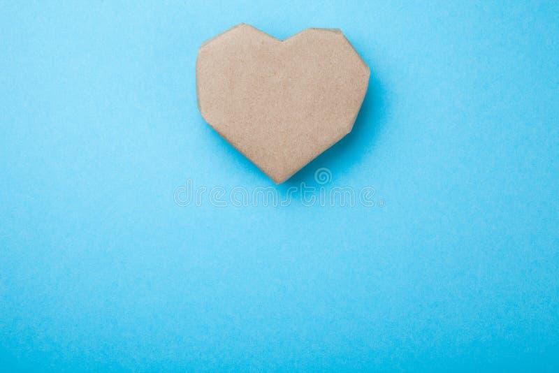 纸心脏,文本的空的空间 库存图片