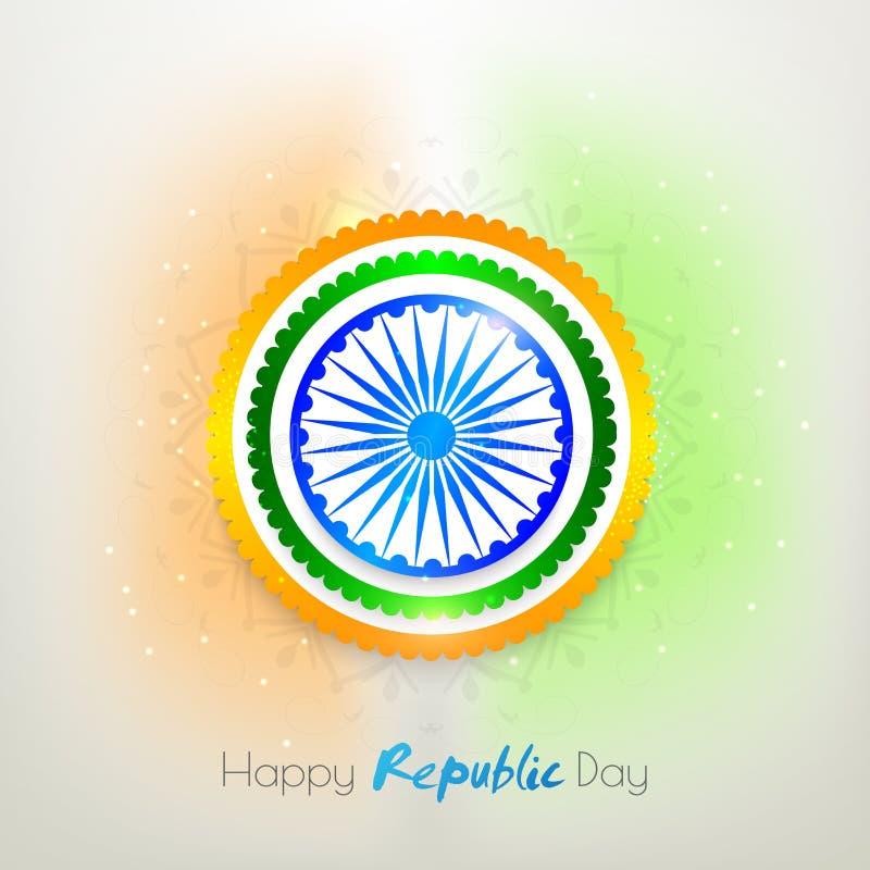 贴纸或标签为印地安共和国天 库存例证