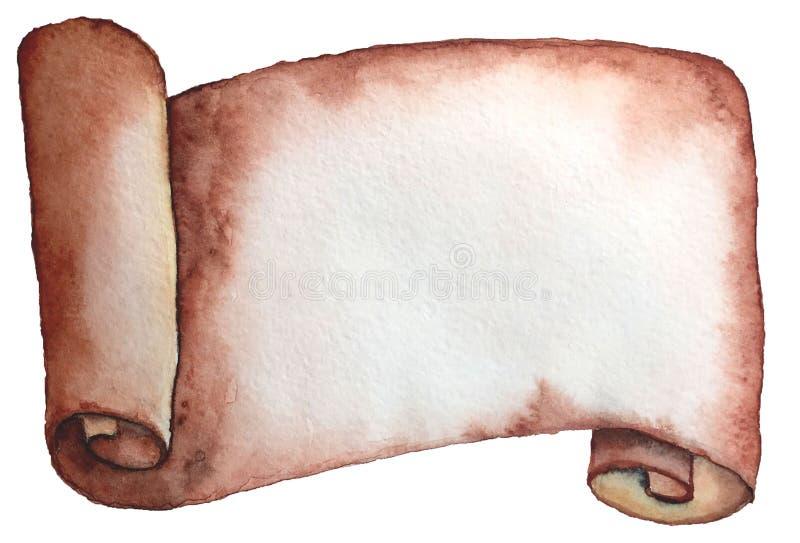 纸手拉的空白在古老样式的 皇族释放例证