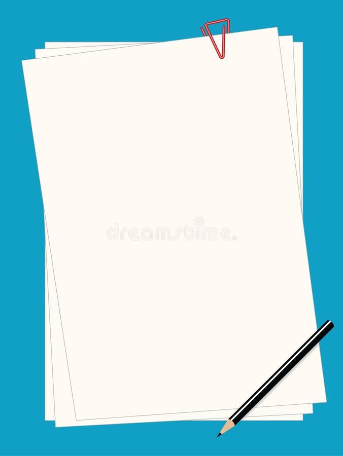 纸无格式 向量例证