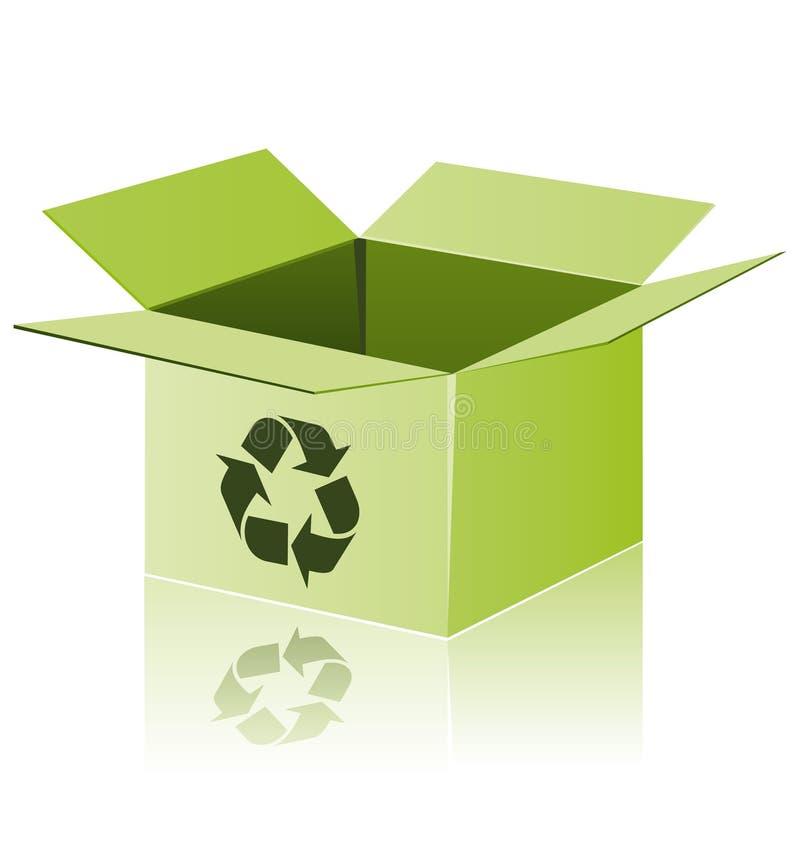 纸板回收 向量例证