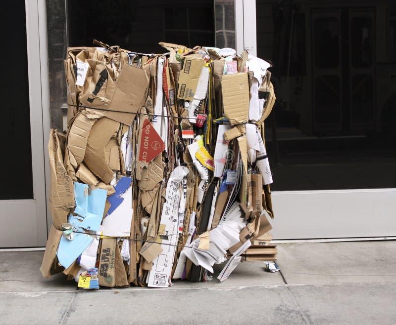 纸板多维数据集 库存照片