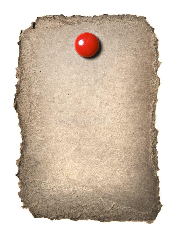 纸板夹子红色减速火箭 库存照片