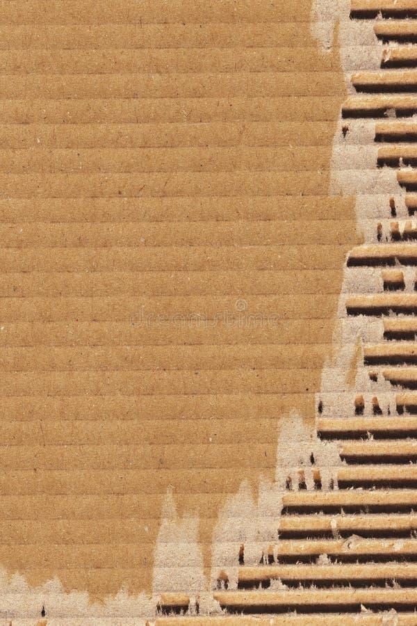 纸板成波状的被撕毁的难看的东西纹理样品 免版税库存图片