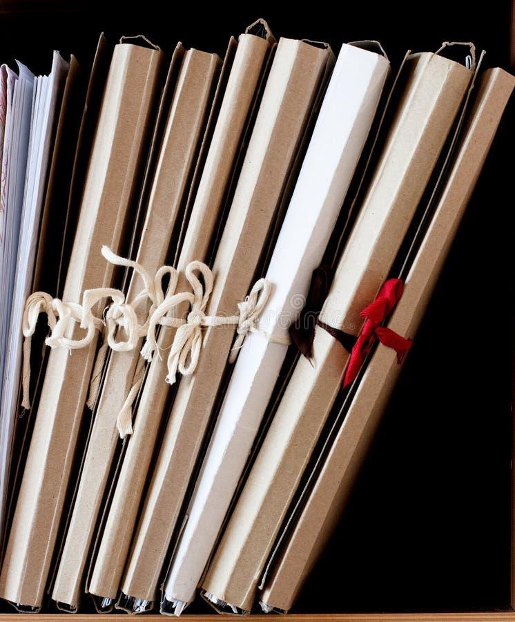 纸板文件夹纸张 免版税库存图片