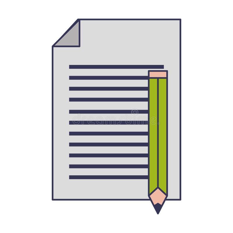 纸板料合同信件动画片 库存例证