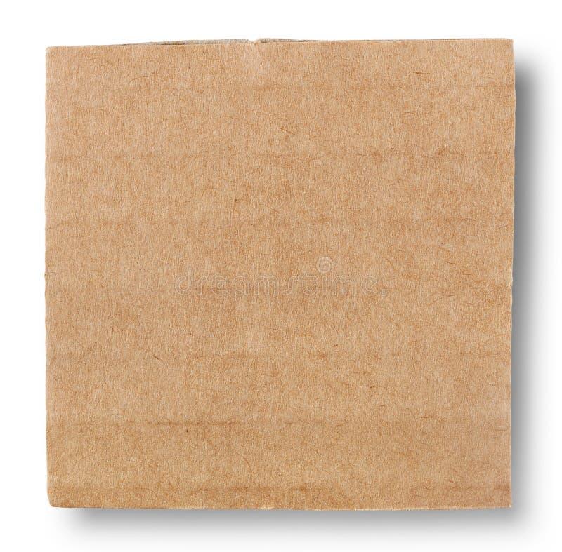 纸板方形的片断  库存照片