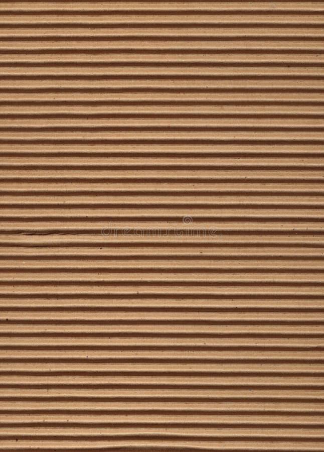 纸板波纹状的系列纹理 免版税库存照片